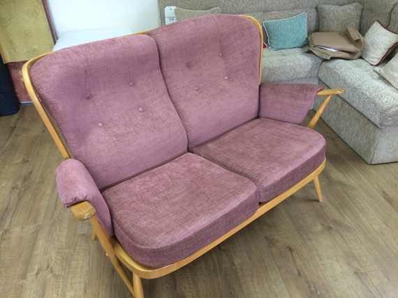 A re-upholstered Ercol Sofa