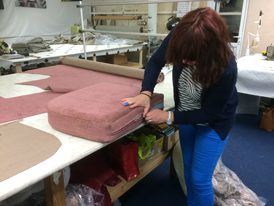 Fitting new fabric covers to Ercol cushions