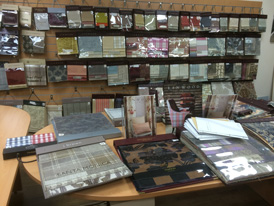 100s of fabric books on display…