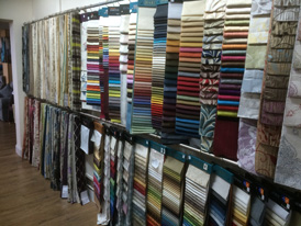 …and thousands of fabric swatches!