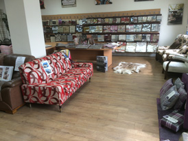Many examples of re-upholstered Ercol furniture in our showroom