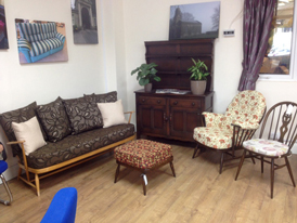 Some of the transformed Ercol furniture on display in our showroom